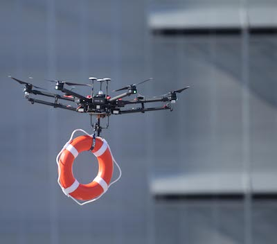 Rescue applications of a drone